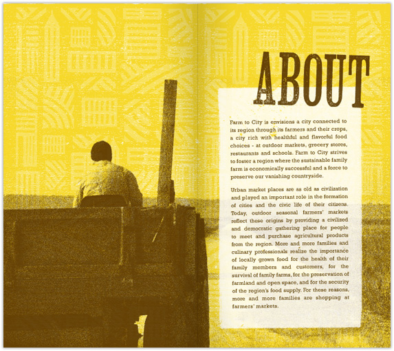 Farm to City Brochure Spread