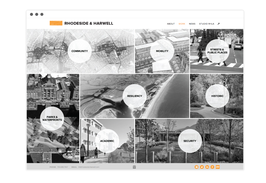 Rhodeside & Harwell Project Category Page