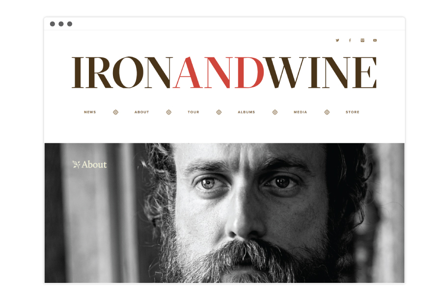 Iron and Wine Website About Page