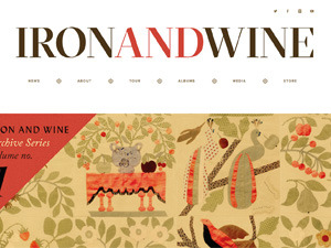 Iron & Wine Website